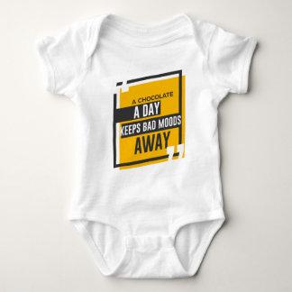 Body Para Bebê O bom humor esteja feliz come o chocolate