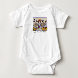 Body Para Bebê PÉROLA de GINNY PARA o BEBÊ, anjo da luz do sol