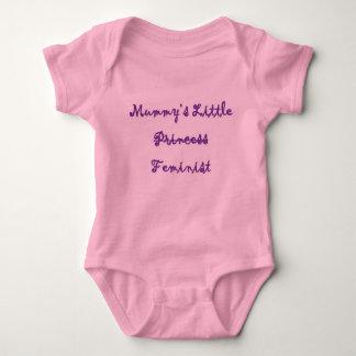 Body Para Bebê Pouco Bodysuit feminista da mamã