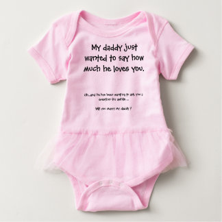 Body Para Bebê Proposta de casamento bonito
