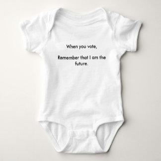 Body Para Bebê Recorde que eu sou o Bodysuit futuro