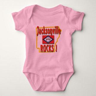 Body Para Bebê Rochas de Jacksonville! (vermelho)