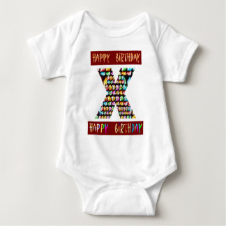 Body Para Bebê Roteiro de HappyBirthday - alfabeto ALFA