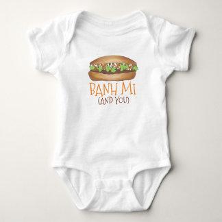 Body Para Bebê Sanduíche vietnamiano de Foodie da comida de Banh