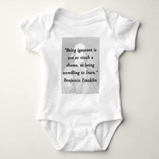 Body Para Bebê Sendo ignorante - Benjamin Franklin