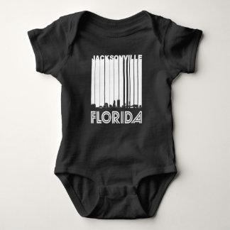 Body Para Bebê Skyline retro de Jacksonville Florida