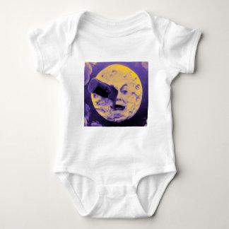 Body Para Bebê Uma viagem à lua (poeira de papel efervescente