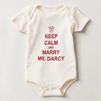 Body Para Bebê Vermelho - mantenha a calma e case o Sr. Darcy