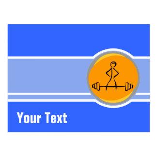 Bodybuilding; azul & laranja cartão postal