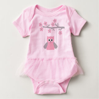 Bodysuit/coruja do tutu do bebê t-shirts
