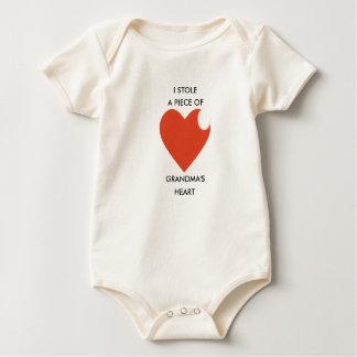 Bodysuit do bebê, Creeper, coração da avó do Macacão