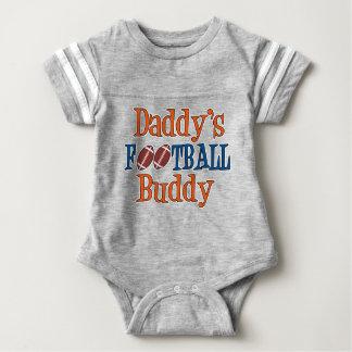 Bodysuit do futebol do bebê do amigo do futebol do camiseta