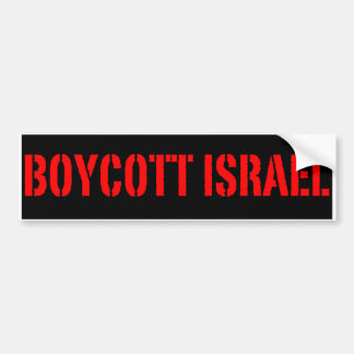 Boicote Israel - autocolante no vidro traseiro