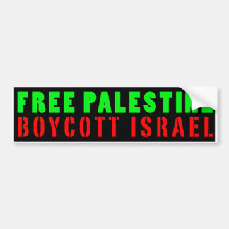BOICOTE LIVRE ISRAEL de PALESTINA - autocolante no