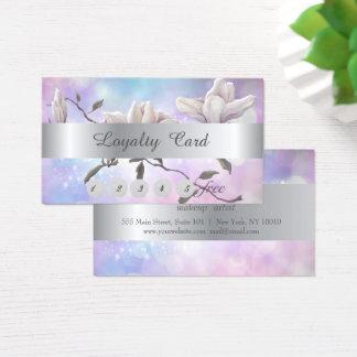 Bokeh à moda elegante, cartão   da lealdade da