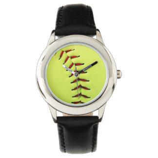 Bola amarela do softball relógio