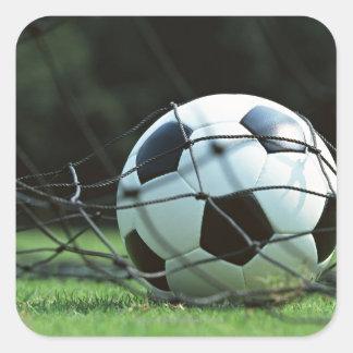 Bola de futebol 3 adesivo quadrado