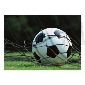 Bola de futebol 3 cartão comemorativo