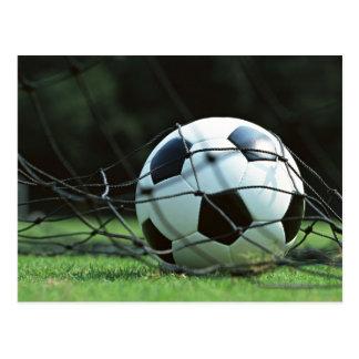 Bola de futebol 3 cartão postal