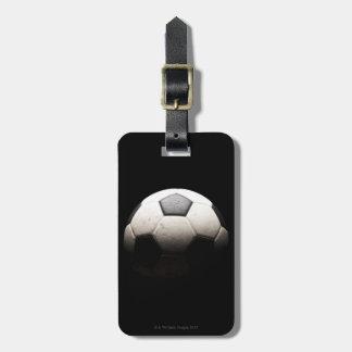 Bola de futebol 3 etiqueta de bagagem