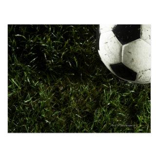 Bola de futebol 4 cartão postal