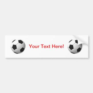 Bola de futebol: adesivo para carro