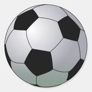Bola de futebol americana do futebol de associação adesivo