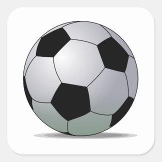 Bola de futebol americana do futebol de associação adesivo quadrado