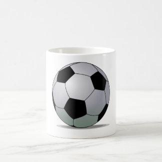 Bola de futebol americana do futebol de associação caneca de café