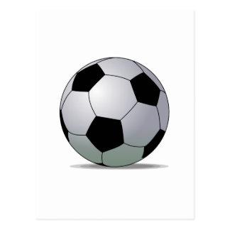 Bola de futebol americana do futebol de associação cartão postal