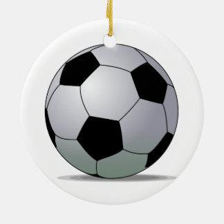 Bola de futebol americana do futebol de associação ornamento de cerâmica redondo