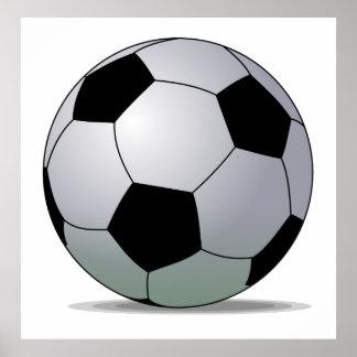 Bola de futebol americana do futebol de associação poster