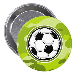 Bola de futebol camo verde-claro camuflagem botons