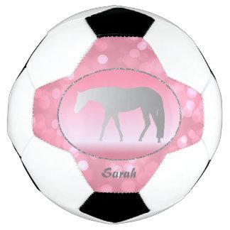 Bola De Futebol Cavalos ocidentais de prata do prazer em Brokeh