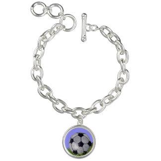 Bola de futebol charm bracelet