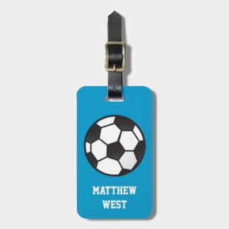 Bola de futebol etiquetas para malas