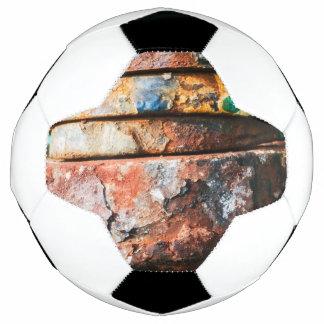 Bola De Futebol raça misturada do metal a endurecer