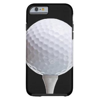 Bola de golfe e T em Preto personalizado Capa Tough Para iPhone 6