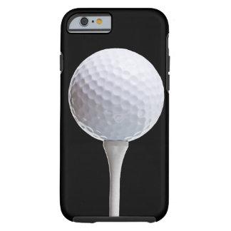 Bola de golfe no preto - modelo personalizado capa tough para iPhone 6
