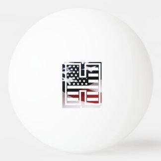 Bola De Ping-pong Bandeira patriótica dos EUA da inicial do