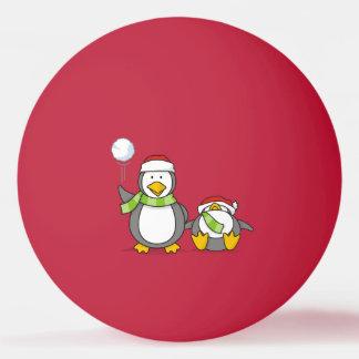 Bola De Ping-pong Pinguins Snowballing do Natal