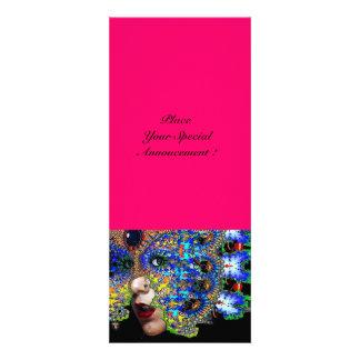 Bola de traje EFÉMERA do mascarada rosa fúcsia Convites Personalizado