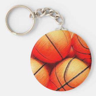 Bola do basquetebol chaveiros