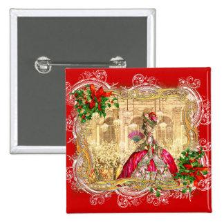 Bola do Natal de Marie Antoinette Bóton Quadrado 5.08cm