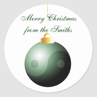 Bola do Natal de Yin Yang Adesivo