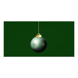 Bola do Natal de Yin Yang Cartões Com Fotos