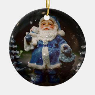 Bola do Natal Ornamento De Cerâmica Redondo