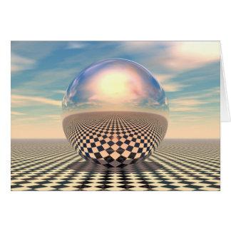 Bola do verificador cartão