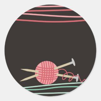 bola dos artesanatos de confecção de malhas do fio adesivos em formato redondos