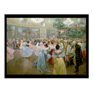 Bola no Hofburg, 1900 da corte Cartão Postal